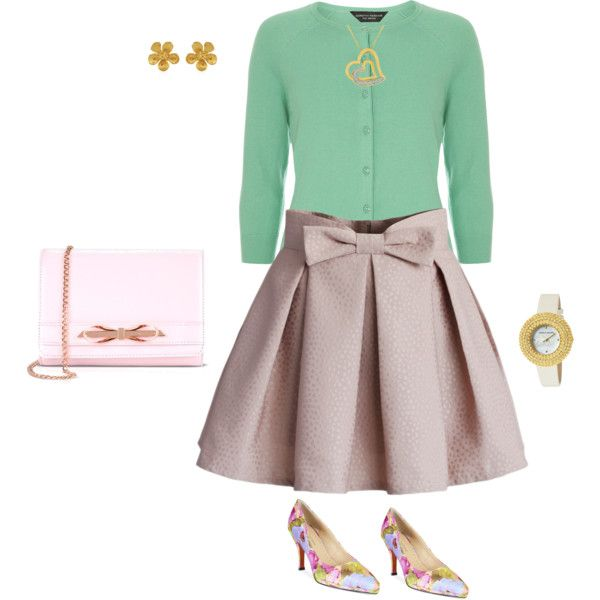 Ribbon by tsurumi-mai on Polyvore featuring ファッション, Dorothy Perkins, Chicwish, Adrienne Vittadini, Ted Baker, Kenneth Jay Lane and Alex Monroe