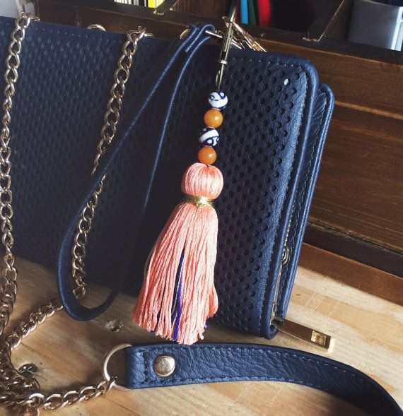 Tassel Keychain: Emery by StickandStoneCompany on Etsy