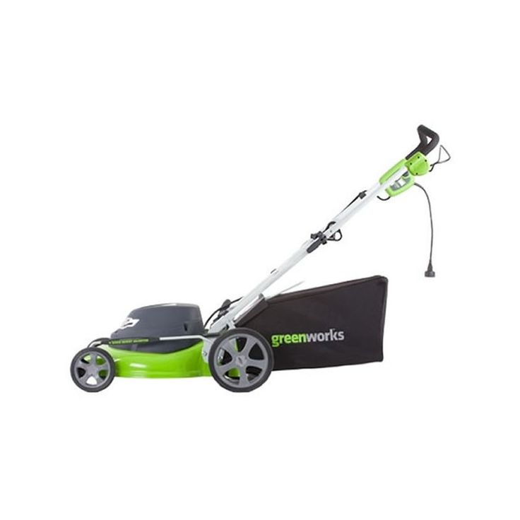 "GreenWorks 25022 12 Amp 3-in-1 Electric Push Lawn Mower with 20"" Cutting Width Push Lawn Mowers Walk Behind Mowers Electric Push"