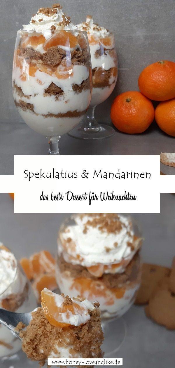 Spekulatius Schichtdessert mit Mandarinen und Orangenmarmelade