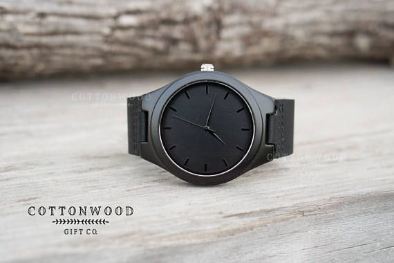Father of the Bride Gift, Father of the Groom Gift, Black Personalized Wood Watch, Groom Gift from Bride, Engraved Wood Watch, Groomsmen