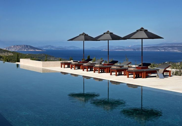 Отель Amanzoe на греческом полуострове Пелопоннес