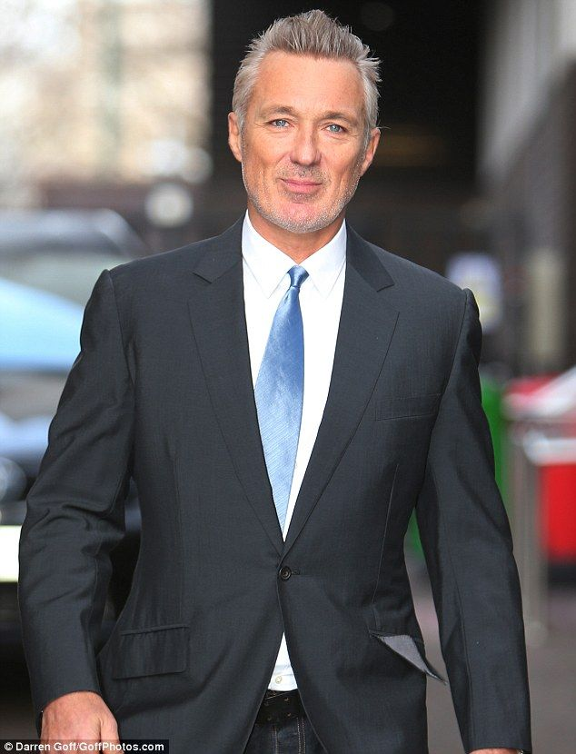 Who's that man? Martin Kemp debuted a new grey look on Monday morning in central London  Lovely as ever!