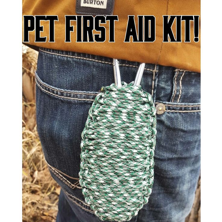 Pet First Aid kit Paracord Survival Grenade Customizable Cobra Weave 550 Paracord Dog First Aid Packs Hiking Supplies by BrodsParacord on Etsy
