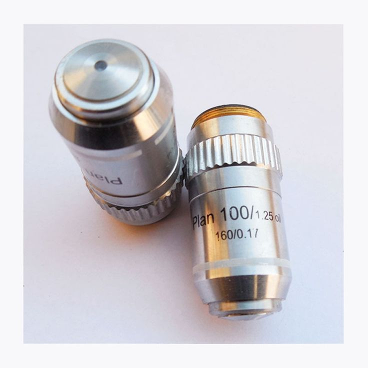 High Quality With Spring and Oil 100X / 1.25 Plan Achromatic Microscope Objective Lens Biological Microscope Parts DIN160/0.17