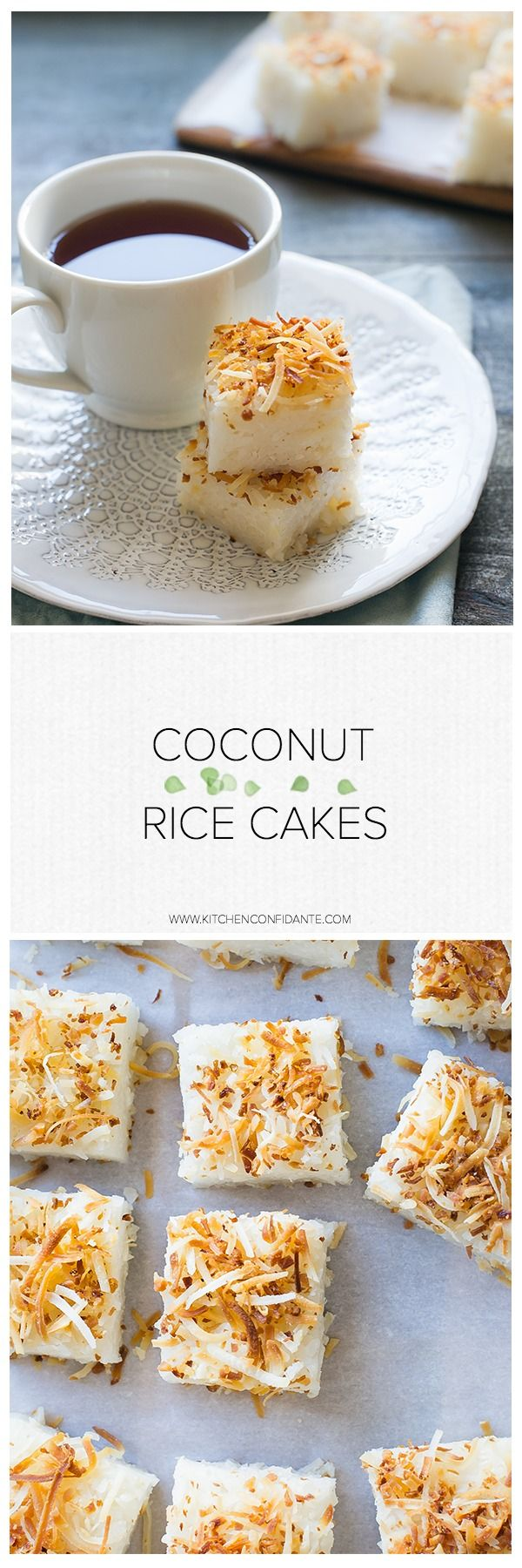 Coconut Rice Cakes   Rice cakes, Dessert recipes, Sushi rice