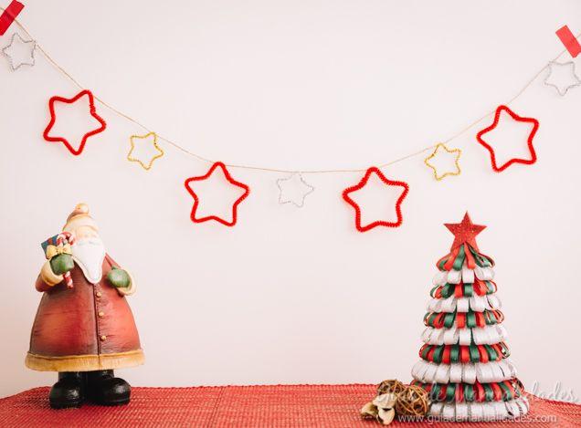 Guirnalda de estrellas para Navidad