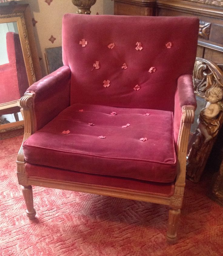 Comfy Ash Wood Armchair With Velvet Upholstery Sold