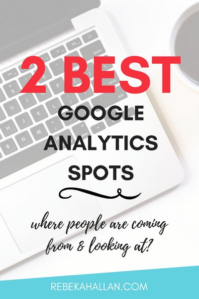 2 Best Google Analytics Spots | Finding where to look at Google Analytics can be the hard bit. But today I make it easy by sharing my 2 favorite + best spots to look when checking out your GA.