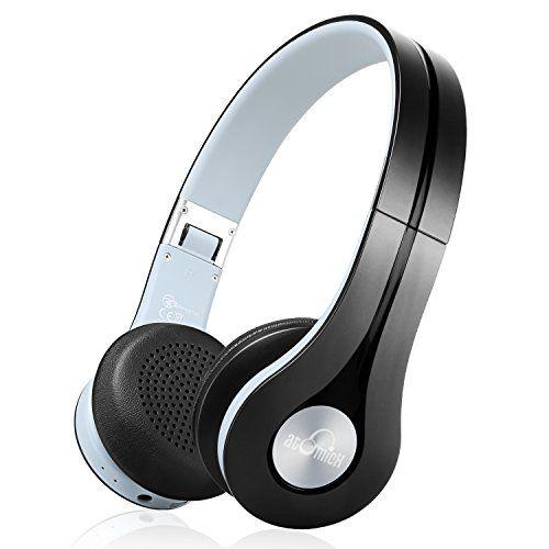 Bluetooth Headphones iDeaUSA Wireless Headphones Stereo On Ear Headphones Built-in Mic 10 Hours Playback Foldable Lightweight Headphones for TV Smartphones Tablet PC - Black
