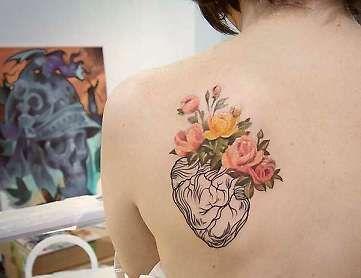 Картинки по запросу татуировка в аквареле на бедре
