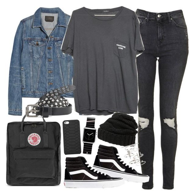 U0026quot;Outfit for university with ripped jeansu0026quot; by ferned on Polyvore featuring Topshop Vans Proenza ...
