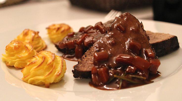 Cooking with Friends 41 - Brassato (Rotwein Schmorrbraten nach italienischer Tradition), Vorspeise Entencarpaccio, Dessert: Schwäbischer Ofenschlupfer