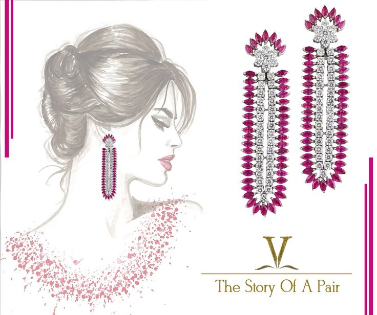 These ruby and diamond earrings are perfect to complement your daily ensemble. The earrings feature a deep pink coloured stone beautifully accompanied with diamonds in a solitaire setting.
