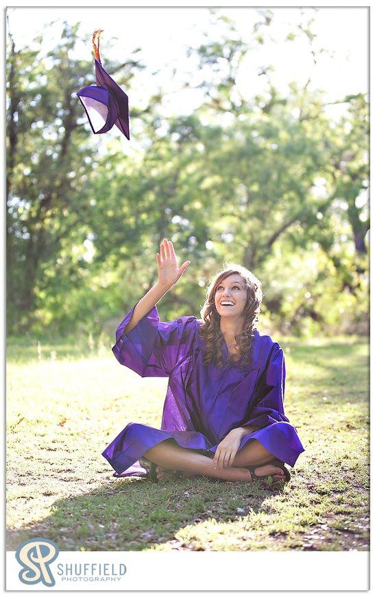 Fun cap and gown pic #senior