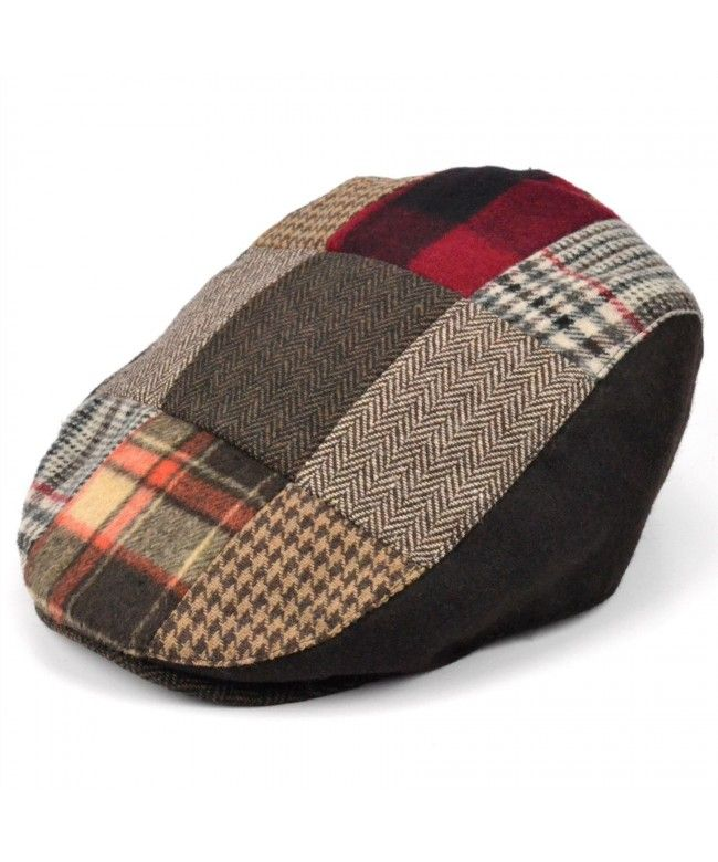 Hawkins Patchwork flat cap - Red