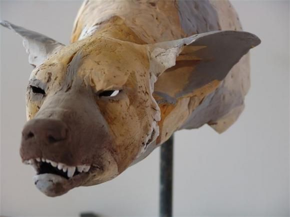 Snarling Dog-head Study no.2, 2010 © Nicola Theakston