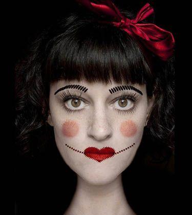макияж куклы на хэллоуин - Google Search
