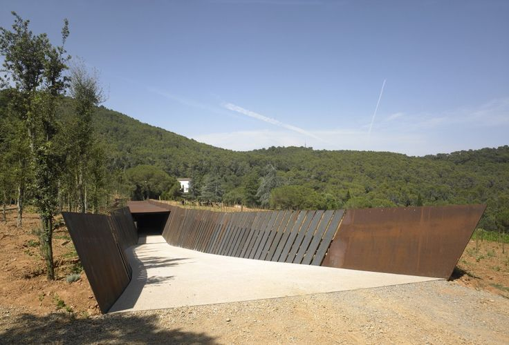 A wine warehouse in Spain! Bodegas Bell-lloc / RCR Arquitectes