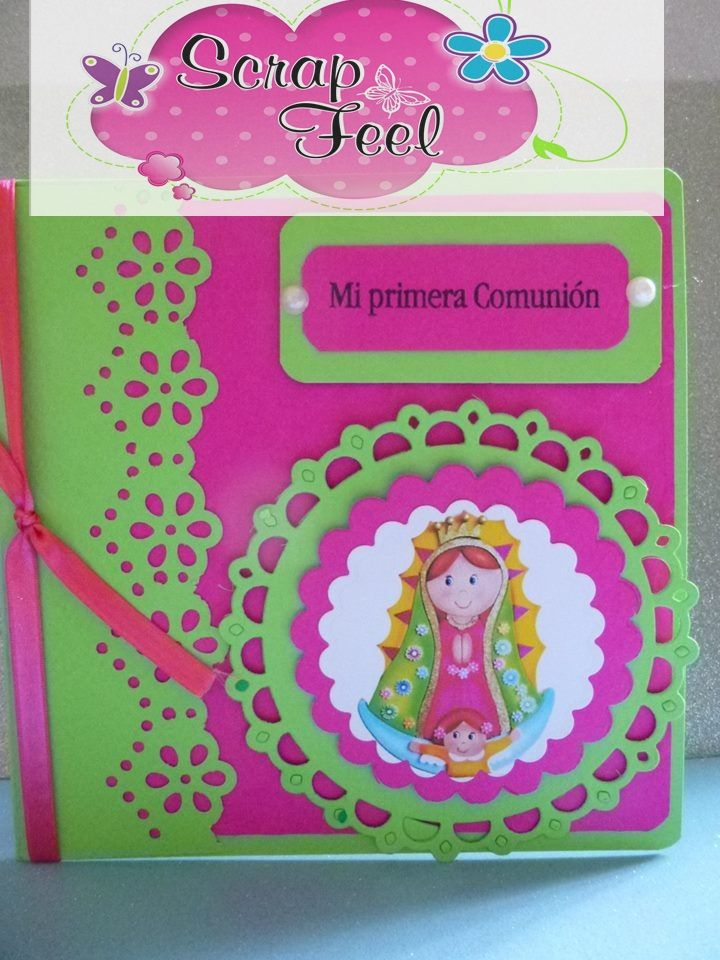 tarjeta primera comunion niña