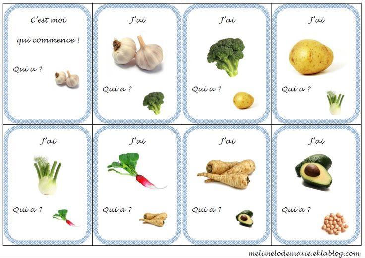 J'ai ... qui a? sur les légumes - Méli mélo de ma classe