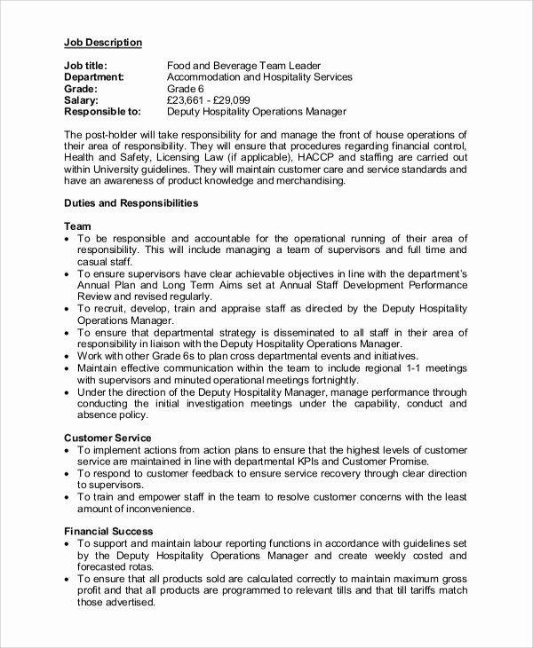 Team Lead Job Description Resume Inspirational 11 Team Leader Job Description Samples Job Description Medical Assistant Resume Office Assistant Job Description