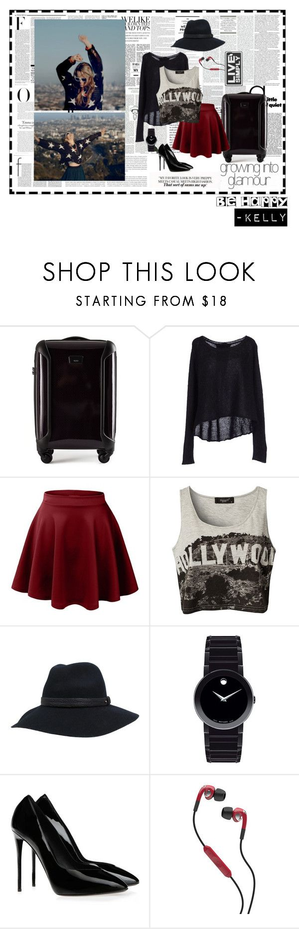 """Ayeee I'm Kelly"" by whiteteeth-teens ❤ liked on Polyvore featuring Vanity Fair, Nicki Minaj, Chanel, SCARLETT, Tumi, Pinko, LE3NO, Sisters Point, rag & bone and Movado"