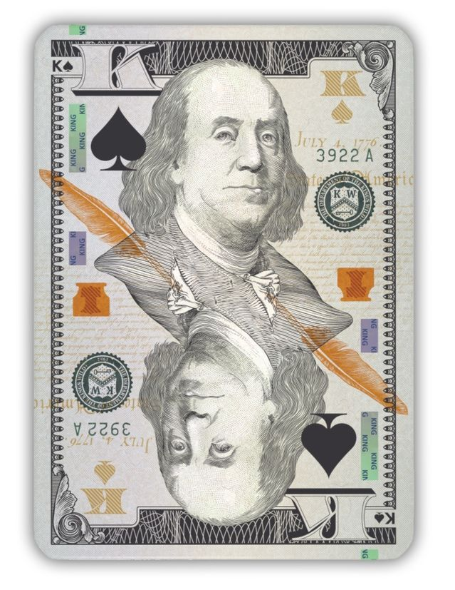 Legal Tender - money-themed playing cards by Jackson Robinson