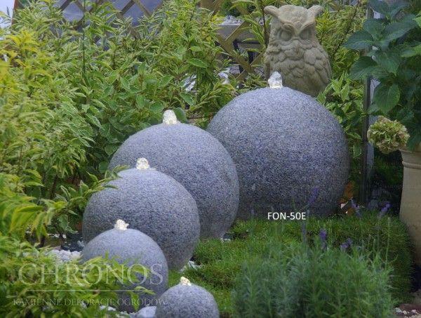 Kula fontannowa - granitowa 60 cm