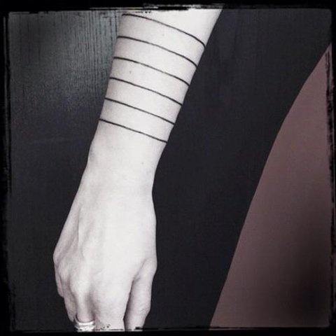 Line bands.