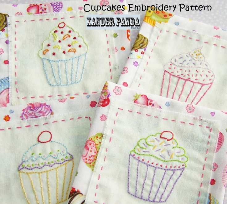 Cupcakes Embroidery Pattern for £1.25 #onselz