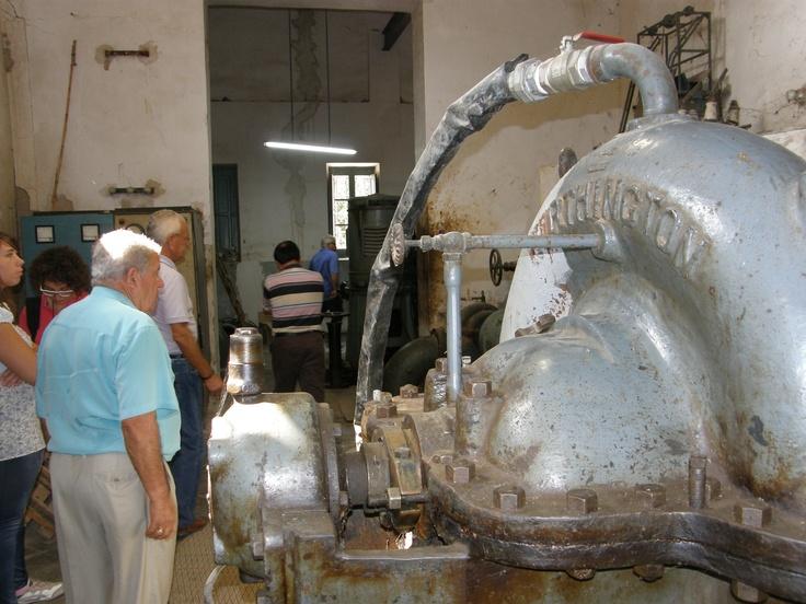 Motobombas de impulsar el agua de los sobrantes del Río Segura hacia el  #campdelx, esta es la primera elevación de la Sociedad Riegos el Progreso de Elche de 1906 en la localidad de San Fulgencio