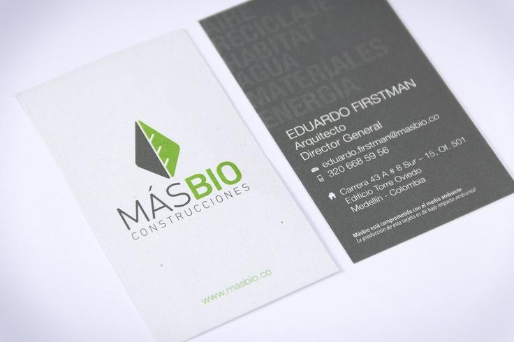 2012 / MasBío Construcciones / Branding, Desarrollo de Marca