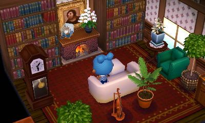 Home libraries and lol on pinterest - Animal crossing new leaf salon de detente ...