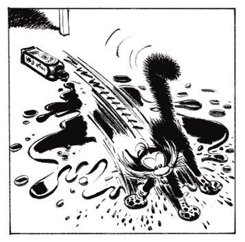 Chat Lagaffe (de kat van Guust) (original art Franquin)