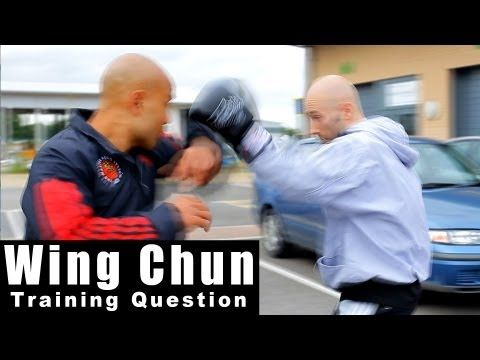 wing chun techniques - how you can deal with a boxers jab hook. Q37