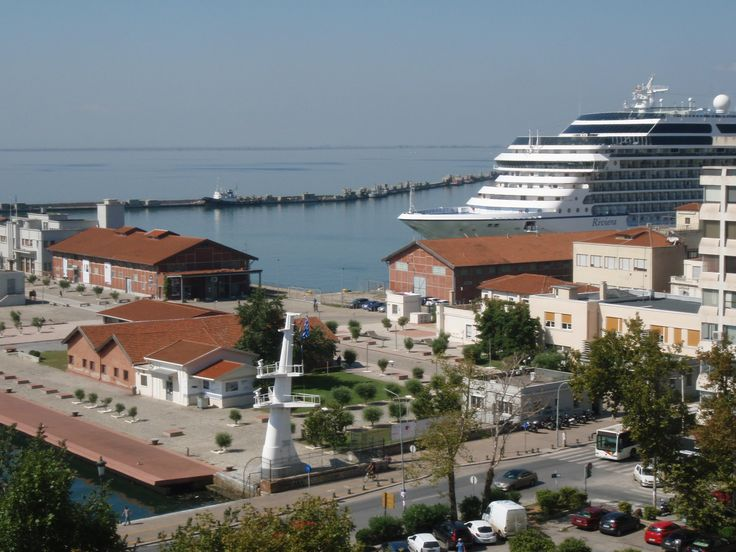 Port view Thessaloniki from the office of Doucas Tours and Travel