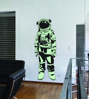 Streetwallz - Spaceman Wall Decal, $75.00 (http://www.streetwallz.com/spaceman-wall-decal/)
