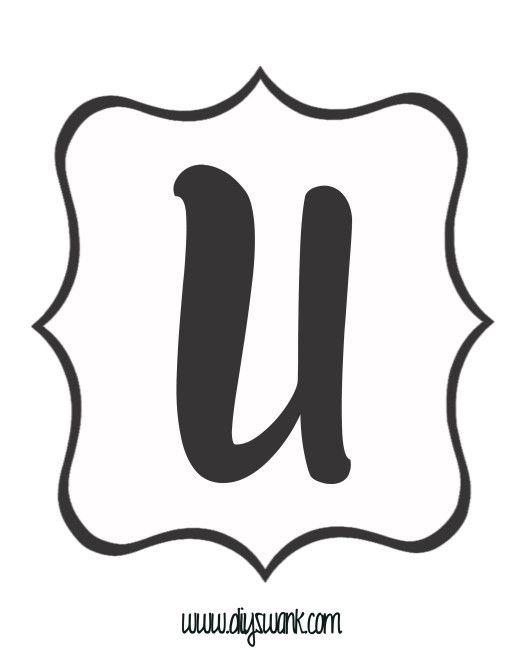 White and Black Letter_U