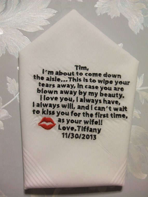 GROOM gift from BRIDE Custom Embroidered I'm by mrsstitchsboutique