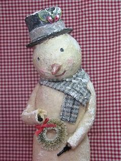 sweet vintage inspired snowman