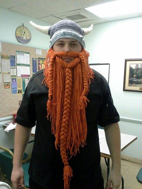 Viking Beard Hat Knitting Pattern : Crochet viking hat and beard My Style Pinterest Vikings, Beards and Hats