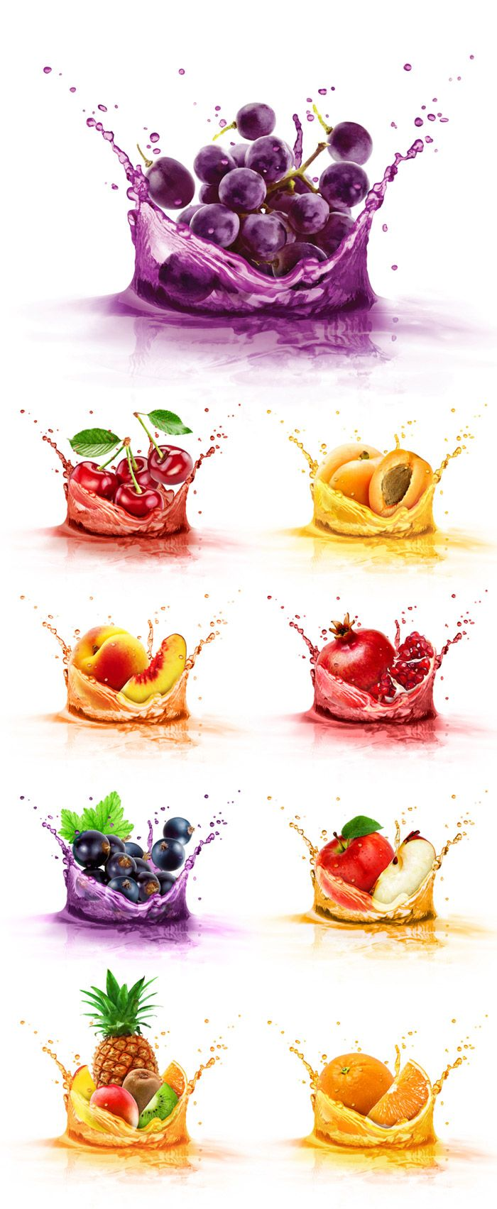 +more fruit juice illustrations