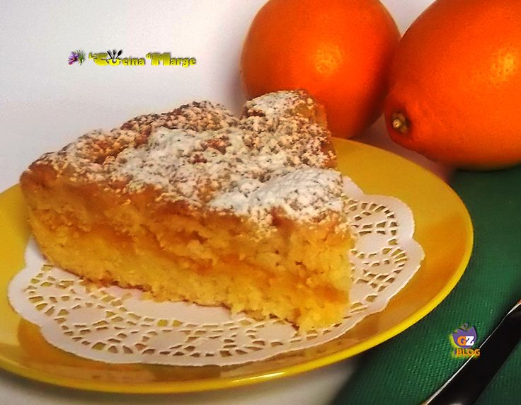 Torta sbriciolata all'arancia una torta deliziosa facile da fare infatti basta pochi muniti ma è cosi buona ragazzi e poi la crema all'arancia dona ...