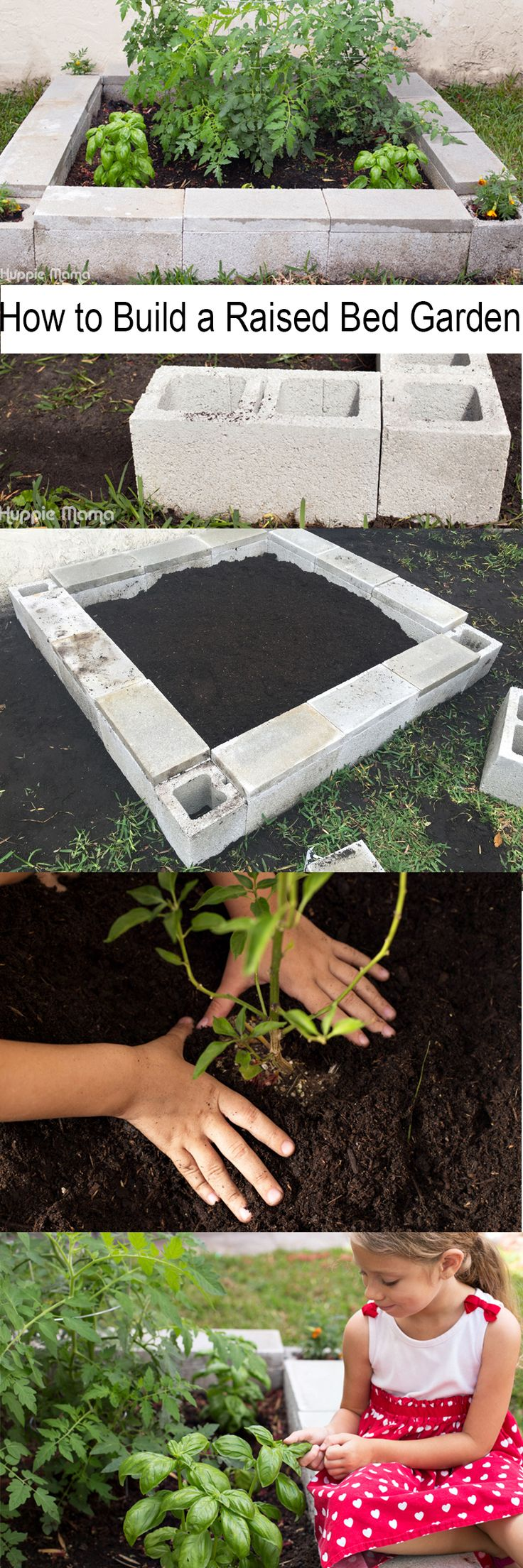 How to Build a Raised Bed Garden and get kids involved in the garden this year.