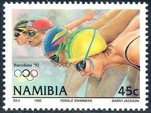 Stamp: Swimming (Namibia) (Olympic Games) Mi:NA 729,Sn:NA 720,Yt:NA 685