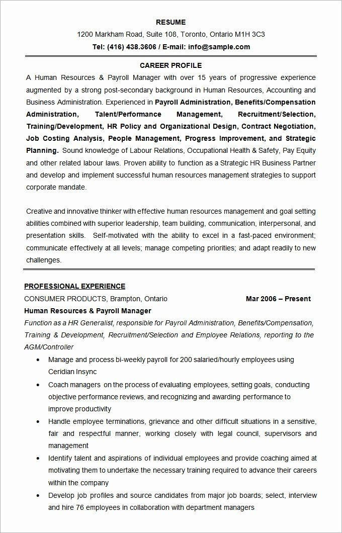 Human Resource Manager Resume Sample Beautiful Hr Executive Resume In Word Format Manager Resume Human Resources Resume Resume