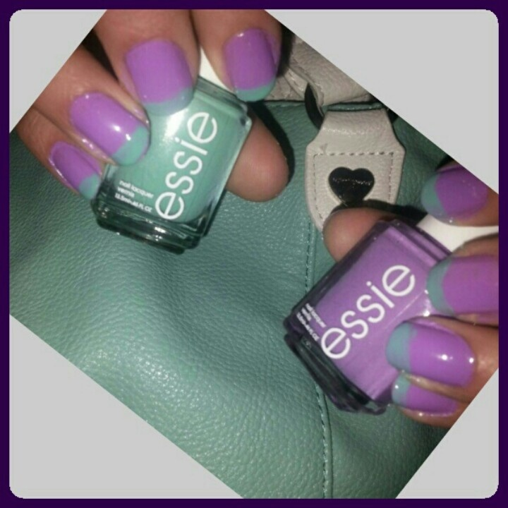 Two Tone Nail Polish Fade: Best 25+ Two Tone Nails Ideas On Pinterest
