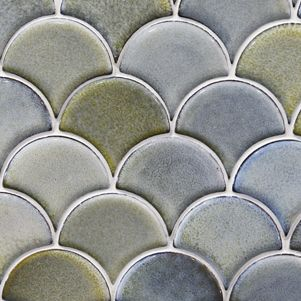 Fish Scale Mosaic Tiles - Products - Surface Gallery