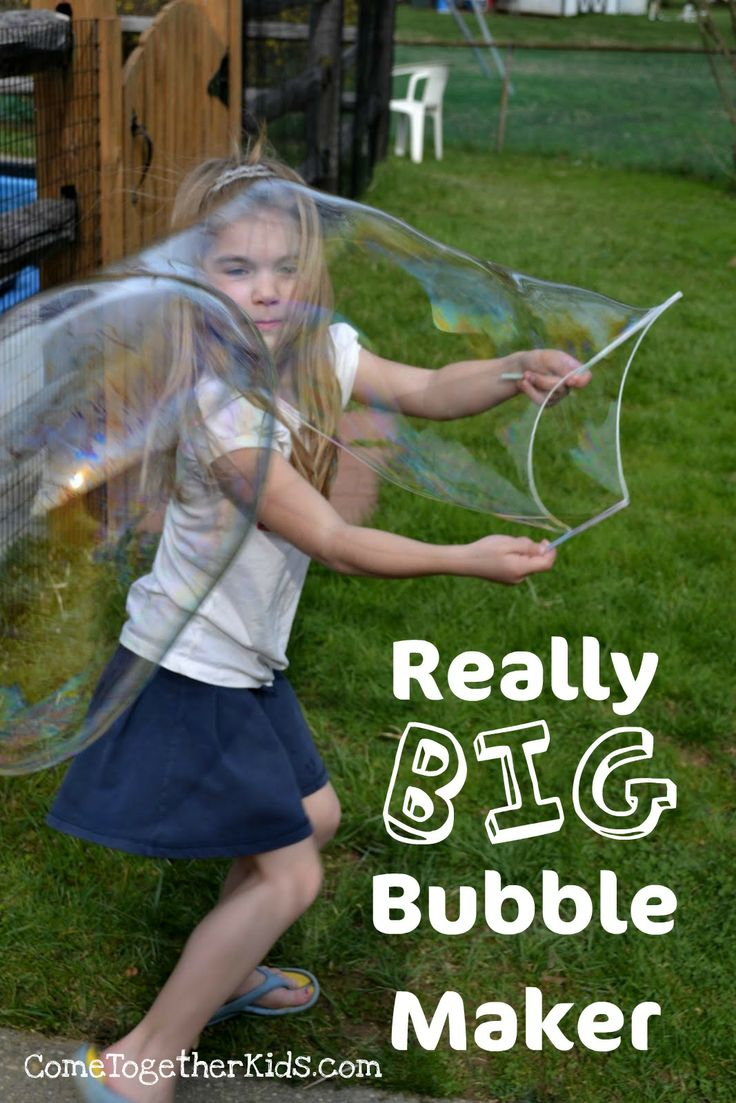 School's out! Come Together Kids shows you how to make a really big bubblemaker out of straws and scrap string.